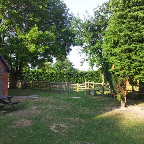 Village hall garden space